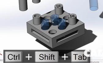 Ctrl + shift + tab
