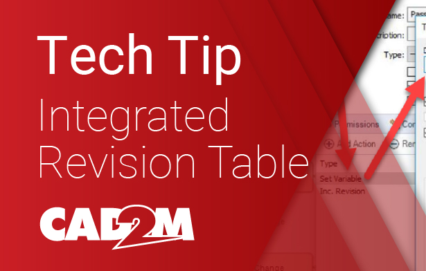 Integrated Revision Table SOLIDWORKS
