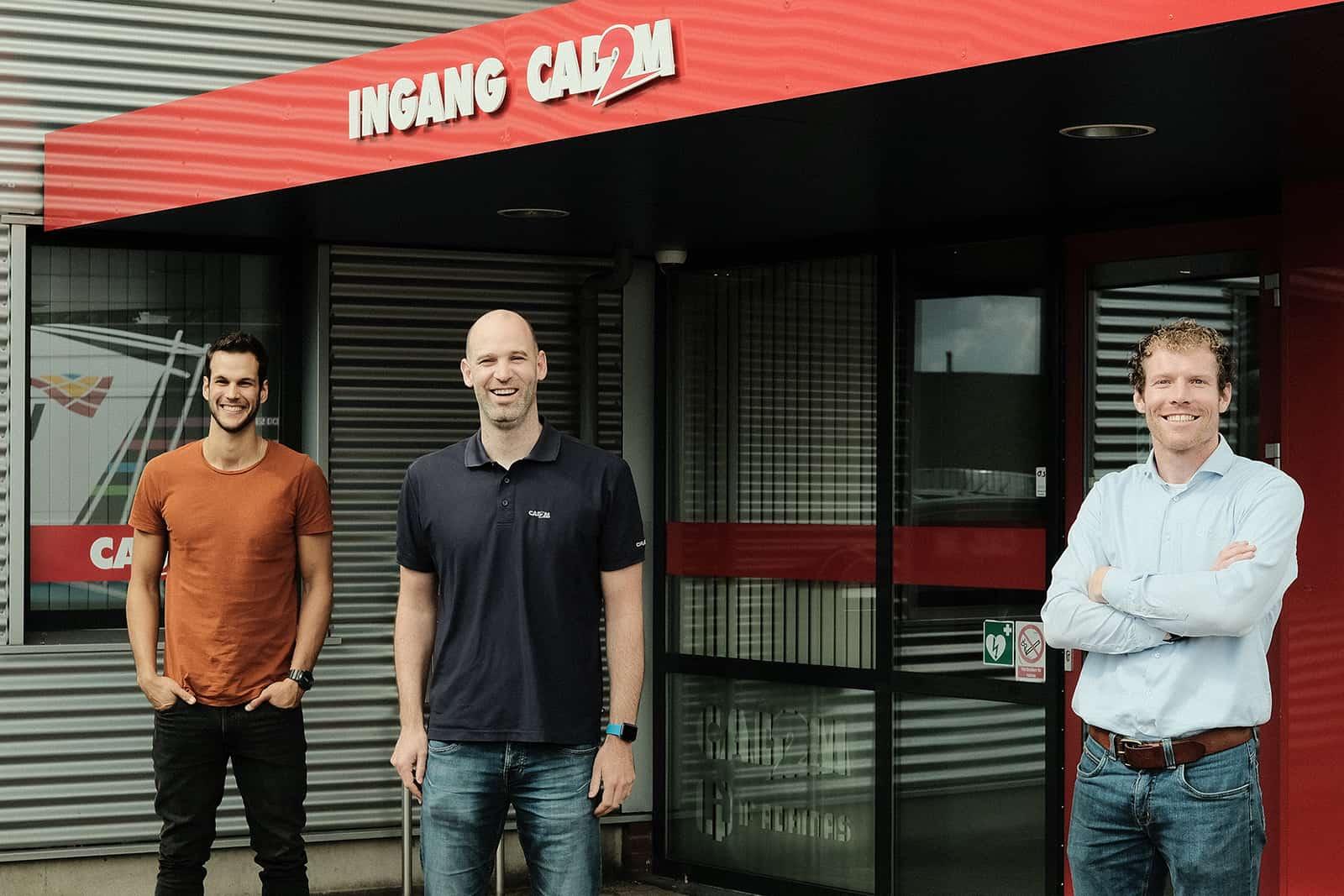Shalev, Michel en Bram (vlnr) bij CAD2M